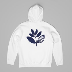 MAGENTA PLANT HOODED SWEAT WHITE