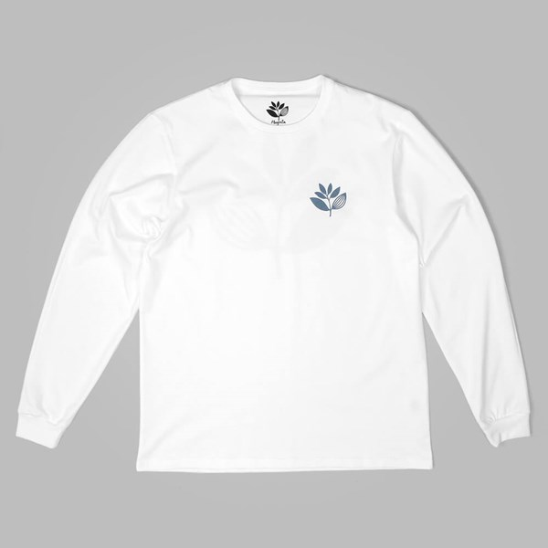 MAGENTA PLANT LONG SLEEVE TEE WHITE