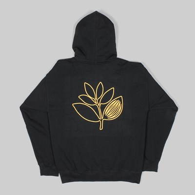 MAGENTA PLANT OUTLINE HOOD BLACK