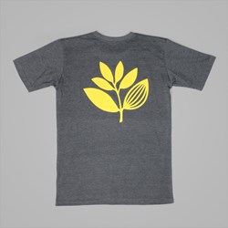 MAGENTA PLANT T-SHIRT DARK HEATHER