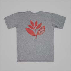 MAGENTA PLANT T-SHIRT HEATHER GREY