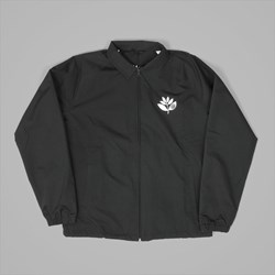 MAGENTA PLANT ZIP WINDBREAKER JACKET BLACK