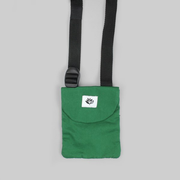 MAGENTA POUCH CROSSOVER BAG GREEN