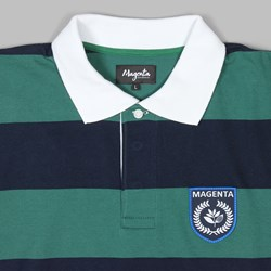 MAGENTA RUGBY LS SHIRT NAVY GREEN