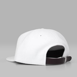 MAGENTA SKATEBOARDS 'M' 6 PANEL CAP WHITE