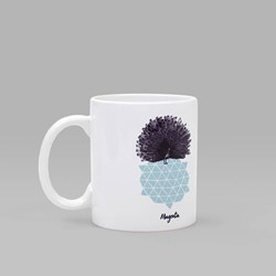 MAGENTA SKATEBOARDS PEACOCK MUG