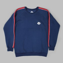 MAGENTA TEAM CREW NECK FLEECE NAVY