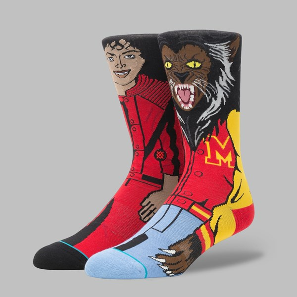 STANCE X MICHAEL JACKSON SOCKS RED