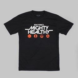 MIGHTY HEALTHY OVER THE EDGE T SHIRT BLACK