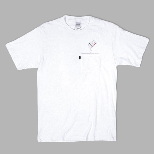 RIP N DIP MILK CARTON POCKET TEE WHITE