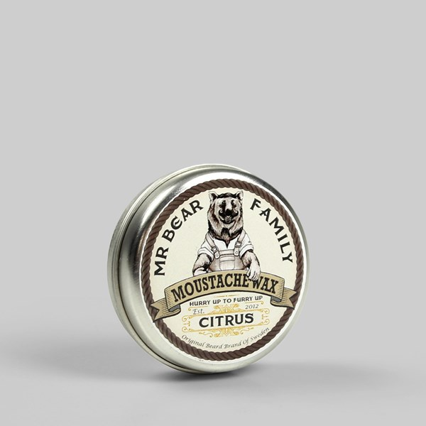Mr Bear Moustache Wax Citrus