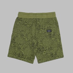 RIP N DIP NERM LEAF PATTERN FRENCH TERRY SHORT OLIVE