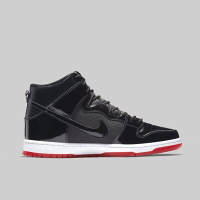 NIKE SB DUNK HIGH TRD QS 'RIVALS PACK' BLACK WHITE VARSITY RED