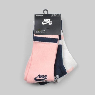 NIKE SB 3 PACK CREW SOCKS 'BUBBLEGUM PACK' MULTI