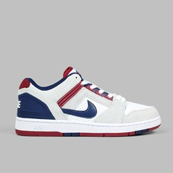 NIKE SB AIR FORCE II LOW WHITE BLUE VOID RED CRUSH