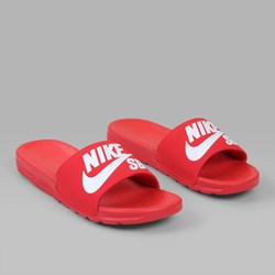 NIKE SB BENASSI SOLARSOFT SLIDES UNIVERSITY RED