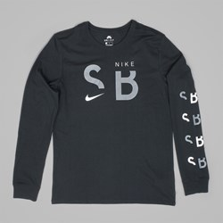 NIKE SB BRAND LONG SLEEVE T-SHIRT BLACK WHITE