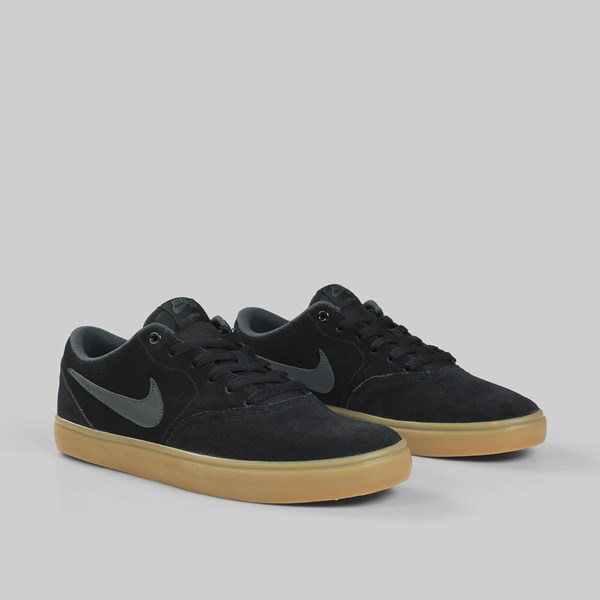 NIKE SB CHECK SOLAR BLACK ANTHRACITE GUM LT BROWN