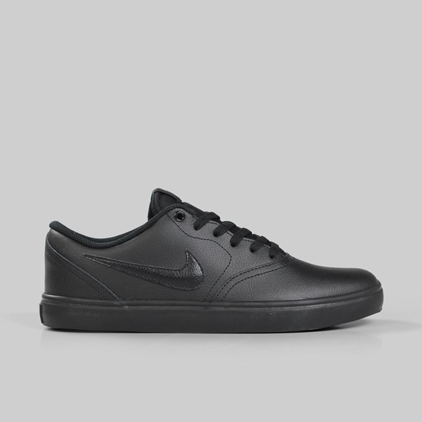 a028e82794ff NIKE SB CHECK SOLAR LEATHER BLACK BLACK GUNSMOKE ...
