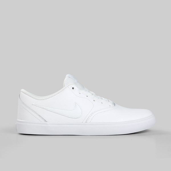 27dffffaf319 NIKE SB CHECK SOLAR LEATHER WHITE WHITE VAST GREY ...