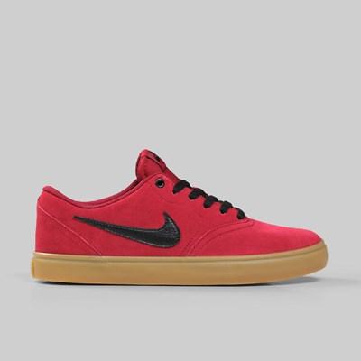 bolígrafo Interactuar alcanzar  NIKE SB CHECK SOLAR RED CRUSH BLACK GUM   NIKE Skateboarding Footwear