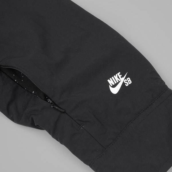 NIKE SB COACHES JACKET BLACK WHITE