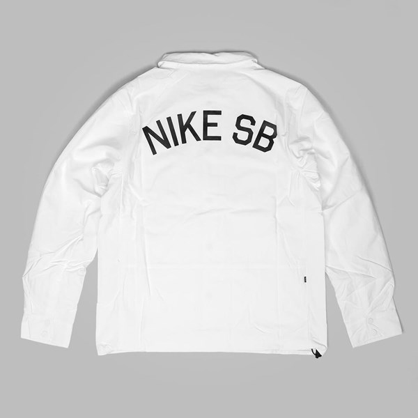 0cf10c4c6c NIKE SB COACHES JACKET WHITE BLACK