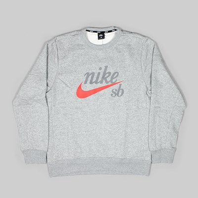 NIKE SB CRAFT ICON CREW FLEECE DARK GREY HEATHER
