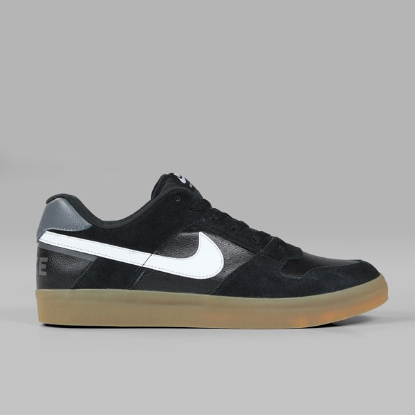 159d30fcb04b NIKE SB DELTA FORCE VULC BLACK WHITE GUM LIGHT BROWN ...