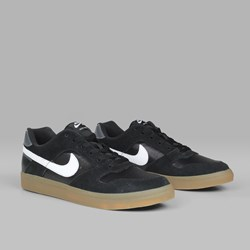 NIKE SB DELTA FORCE VULC BLACK WHITE GUM LIGHT BROWN