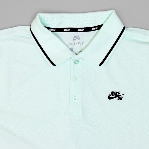 NIKE SB DRI FIT POLO PIQUE BARELY GREEN