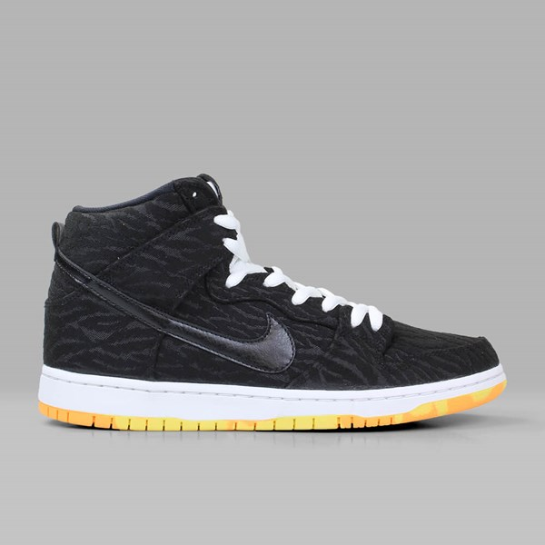 NIKE SB DUNK HI 'SKUNK PACK' BLACK WHITE LASER ORANGE