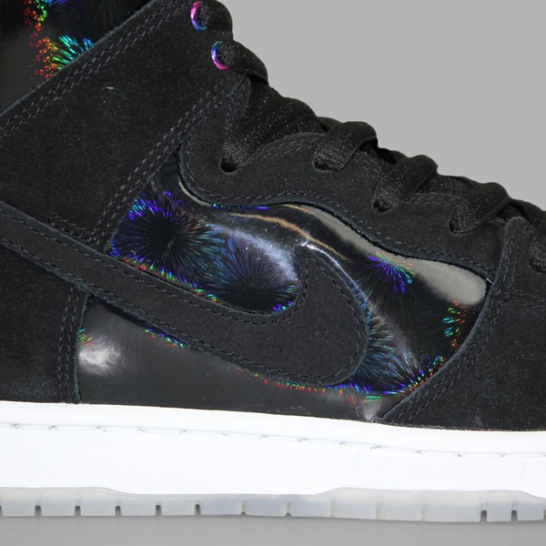 NIKE SB DUNK HIGH PRO BLACK WHITE CLEAR