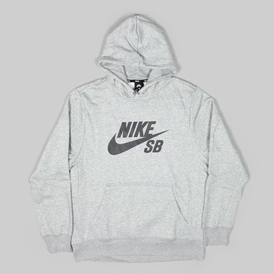 NIKE SB ESSENTIAL ICON PO HOODIE DARK GREY HEATHER