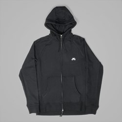 NIKE SB EVERETT FULL ZIP HOODIE BLACK BLACK