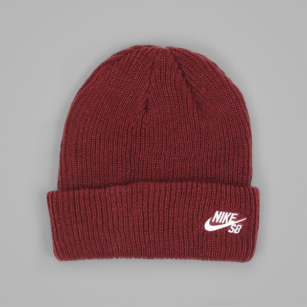 59b11c6b52f NIKE SB FISHERMAN BEANIE HAT DARK TEAM RED