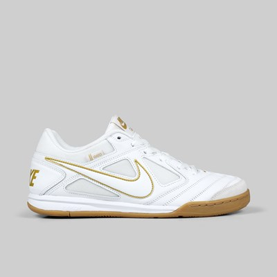 NIKE SB GATO WHITE WHITE METALLIC GOLD GUM LT BROWN