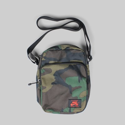 NIKE SB HERITAGE CAMO SUMMIT BAG IGUANA BLACK