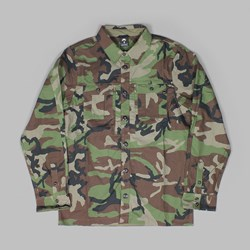 NIKE SB HOLGATE FLEX SHIRT 'CAMO PACK' MEDIUM OLIVE