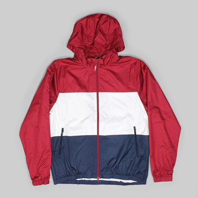 NIKE SB HOODED STRIPE DRY JACKET RED CRUSH WHITE