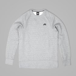 NIKE SB ICON CREW FLEECE DK GREY HEATHER BLACK