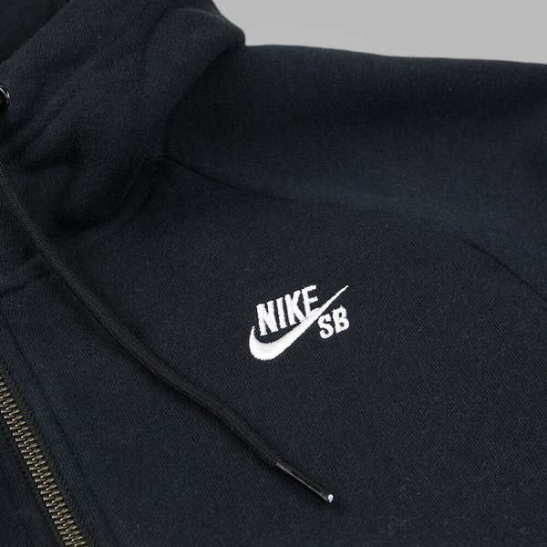 NIKE SB ICON FULL ZIP HOODY BLACK