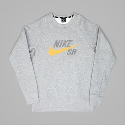 NIKE SB ICON GRAPHIC CREW SWEAT DARK GREY