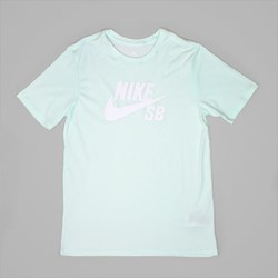 NIKE SB ICON LOGO TEE BARELY GREEN WHITE