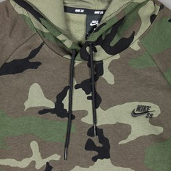 NIKE SB ICON PO HOODIE 'CAMO PACK' MEDIUM OLIVE
