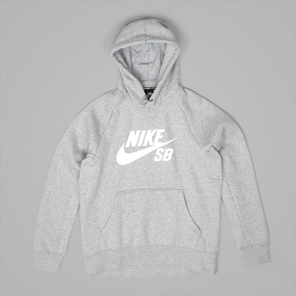 NIKE SB ICON PO HOODIE DARK GREY HEATHER