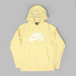 NIKE SB ICON PO HOODIE LEMON WASH WHITE