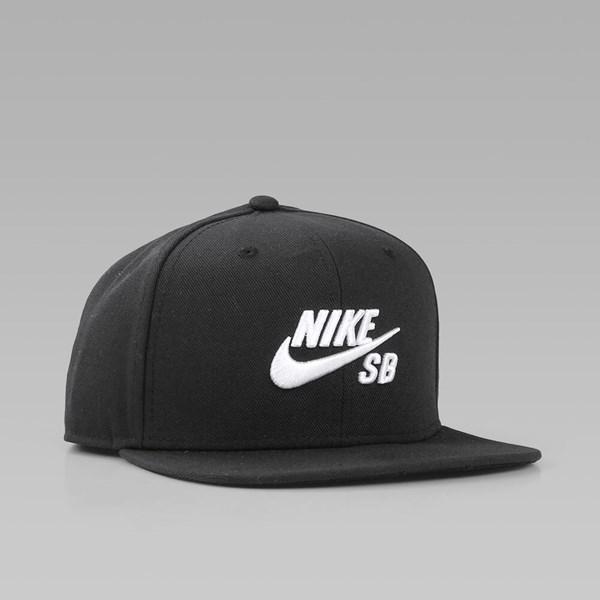 new concept 06505 9e74f NIKE SB ICON PRO SNAPBACK BLACK BLACK WHITE