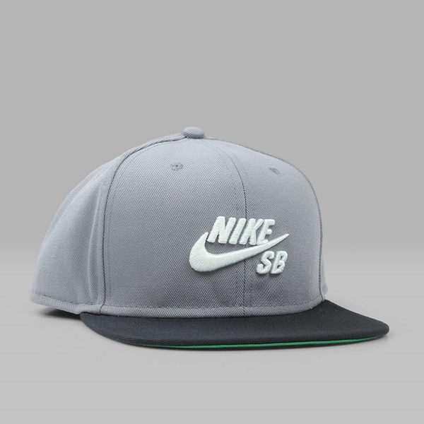 NIKE SB ICON PRO SNAPBACK COOL GREY BLACK PINE