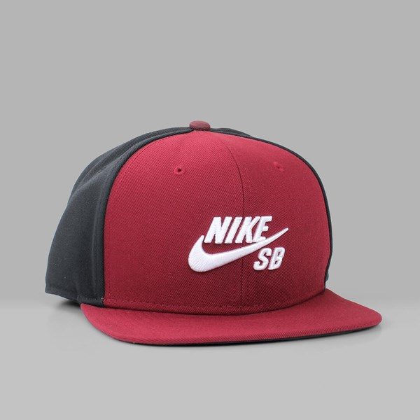 NIKE SB ICON PRO SNAPBACK TEAM RED BLACK